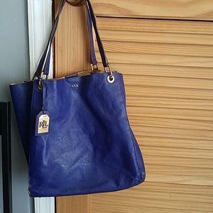 Ralph Lauren leather tote bag